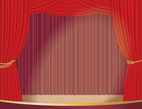 stage curtain background classical red design