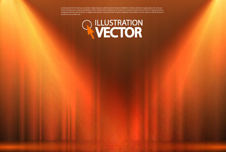 stage curtain with light backgound illustration