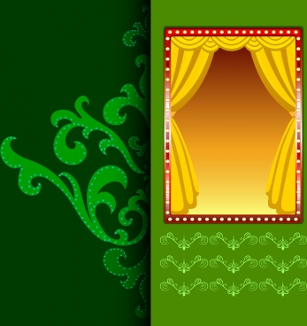 stage design elements colored classical design