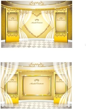 stage gold pattern vector