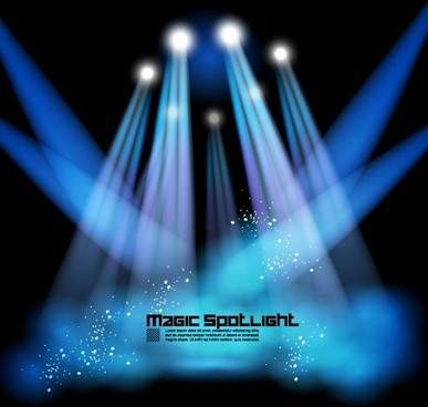 Stage Lighting Effects 02 Vector