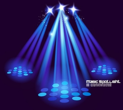 stage lighting effects 03 vector