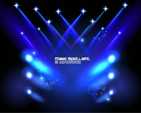 stage lighting effects 04 vector