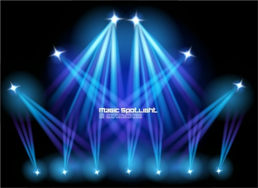 stage lighting effects vector