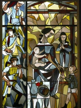 stained glass image glass