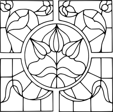 Stained Glass Motif clip art