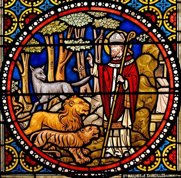 stained glass window glass austremonius st