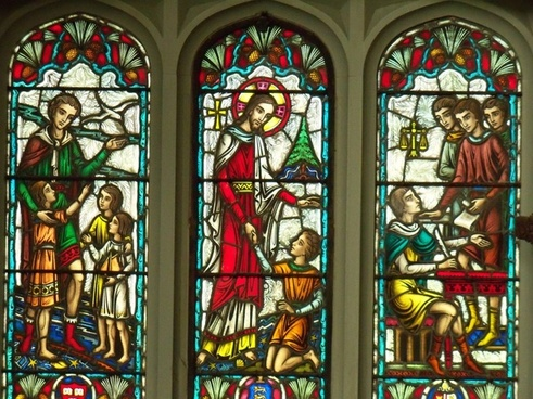 stained glass windows windows jesus