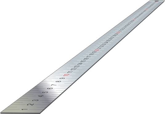 Stainless Steel Ruler (perspective)