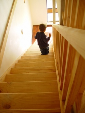 stair climb child learn to walk