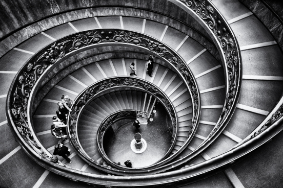staircase of the vatican