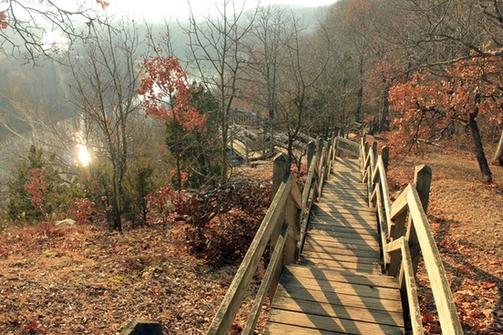 staircase path at castlewood state park missouri