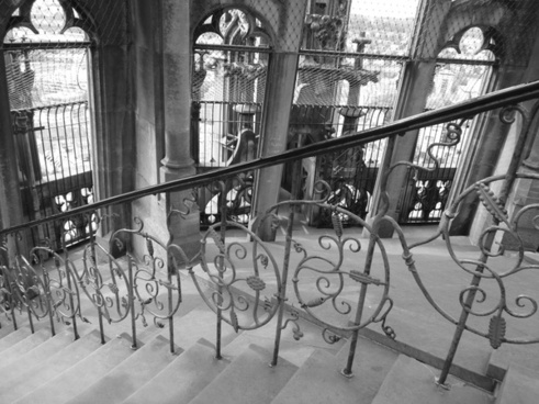 stairs railing ulm cathedral