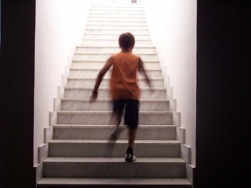 stairs staircase race