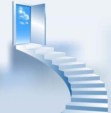 stairs background bright 3d blue decor