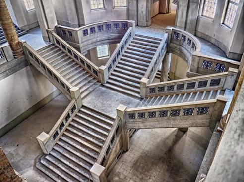 stairway stairs buildings