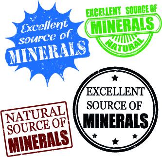 stamp minerals vector