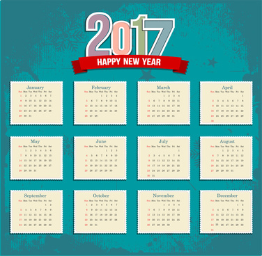 Summer Calendar 2017 Template from images.all-free-download.com