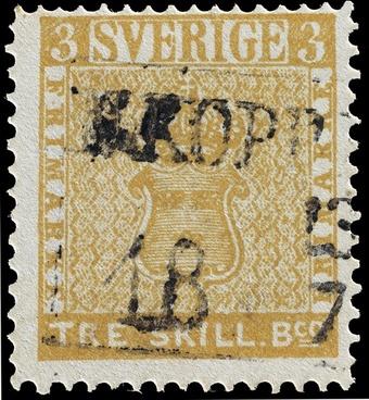 stamp tre skilling banco error swedish