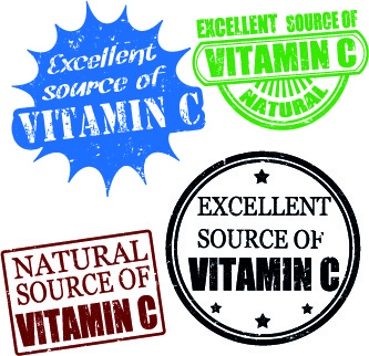 stamp vitamins vector
