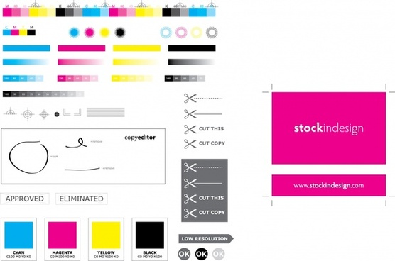standard cmyk color value vector