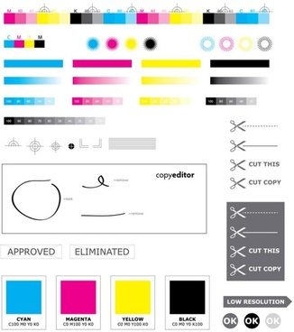 standard cmyk color values u200bu200b vector