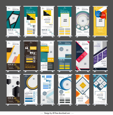 standee banner templates collection colorful modern decor