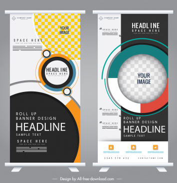 standee banner templates modern colorful decor
