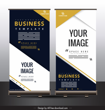 standee poster template colorful modern vertical design