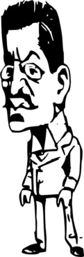 Standing Guy With Mustache And Glasses clip art
