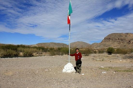 standing on mexican soil at boquilla del carmen coahuila mexico
