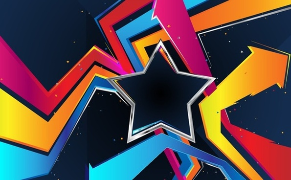 abstract background star arrows decoration 3d design