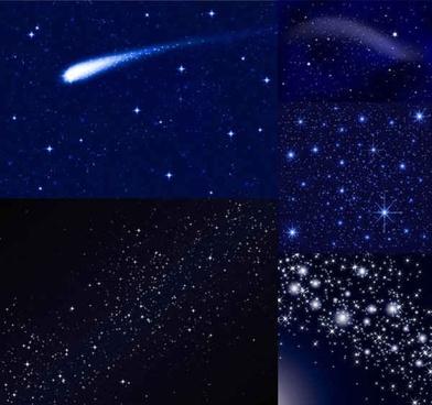 Star Blue vector background