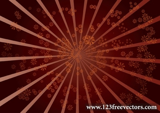 Star Burst Flower Background