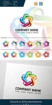star company 3d logo design
