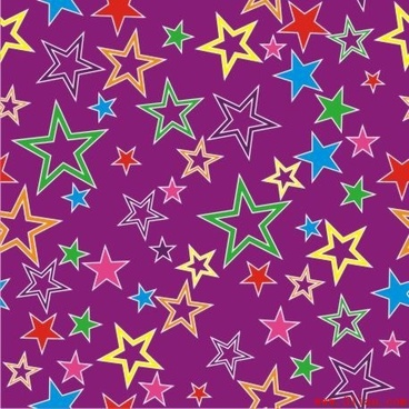 stars background colorful flat repeating ornament