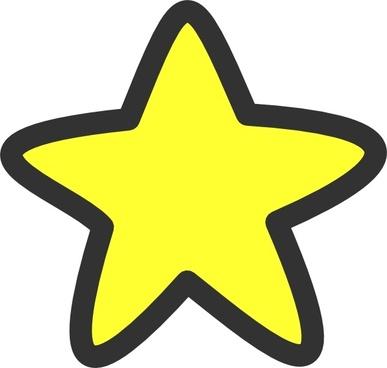 Star Soft Edges clip art