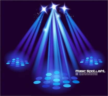 star stage lighting effects vector