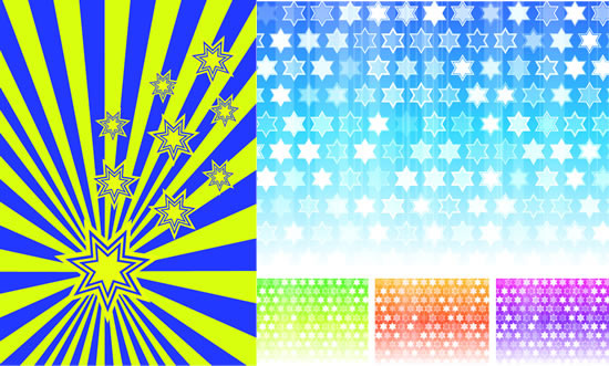 star style background design vector