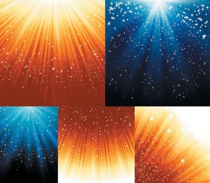 starlit background templates colored twinkling rays decor