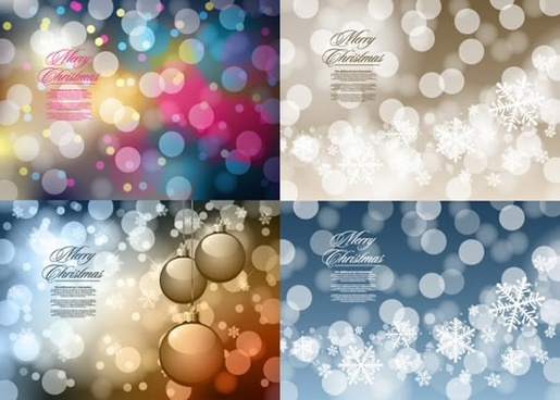 xmas background templates colorful bokeh decor
