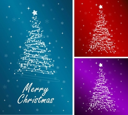 starlight christmas tree vector