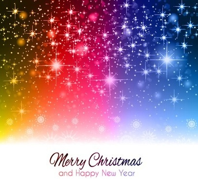 starlight shiny merry christmas background vector