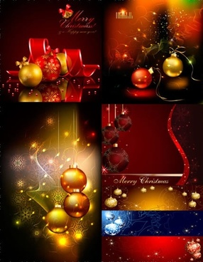 starry background vector christmas ball