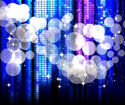 decorative background sparkling bubble lights blue bokeh decor