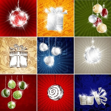 starry christmas background ball lob vector