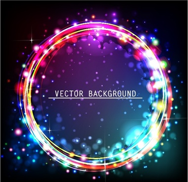 starry circle pattern background vector