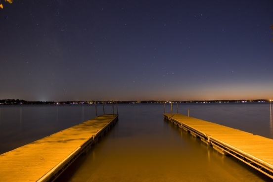 starry view from the docks at lake kegonsa state park wisconsin