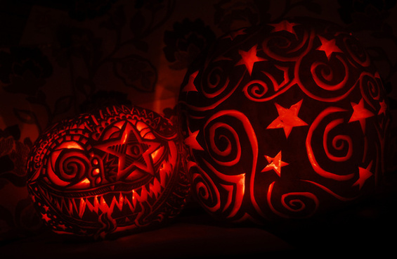 stars and spirals pumpkin