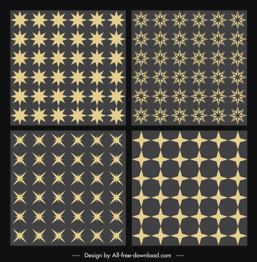 stars background templates classical flat repeating decor